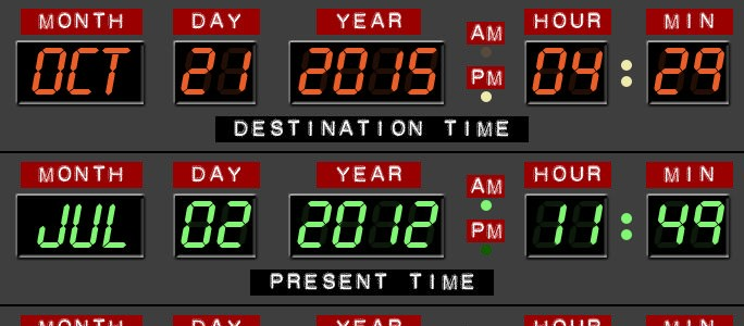 Great Scott- We're in the future!