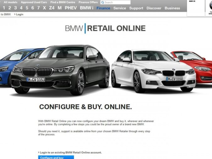 BMW; Buy Online Now.